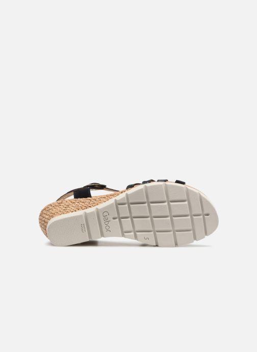 Sandales et nu-pieds Gabor Isla Bleu vue haut