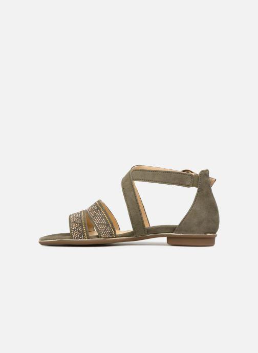 Sandales et nu-pieds Gabor Luz Vert vue face