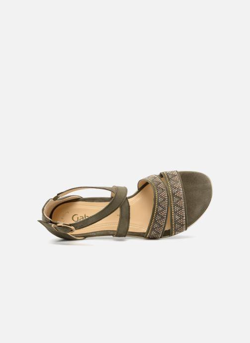 Sandales et nu-pieds Gabor Luz Vert vue gauche