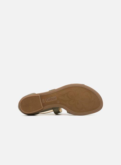 Sandales et nu-pieds Gabor Luz Vert vue haut