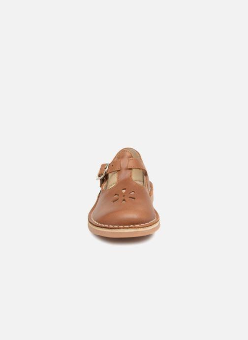 Ballerines Aster Dingo Marron vue portées chaussures