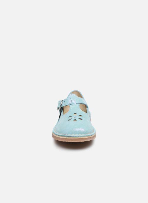 Ballerines Aster Dingo Bleu vue portées chaussures