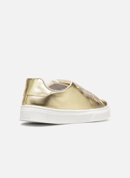 Trainers Made by SARENZA Busy Girl Basket #1 Bronze and Gold front view