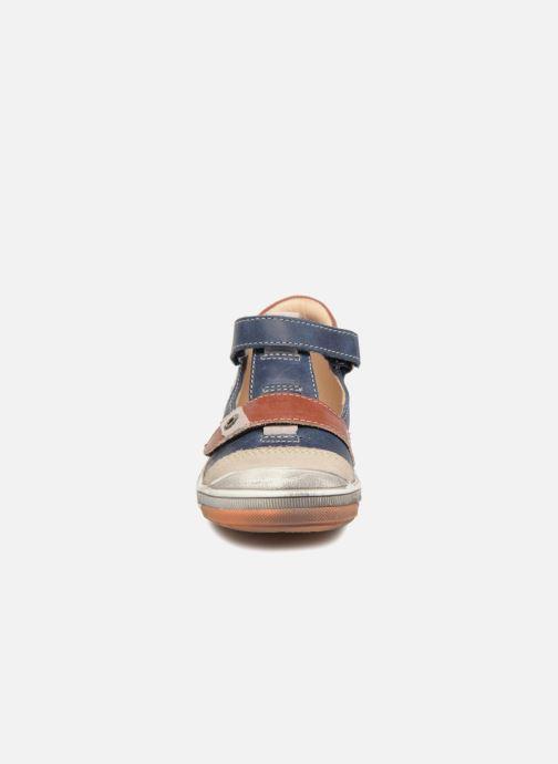 Baskets GBB Samuel Bleu vue portées chaussures