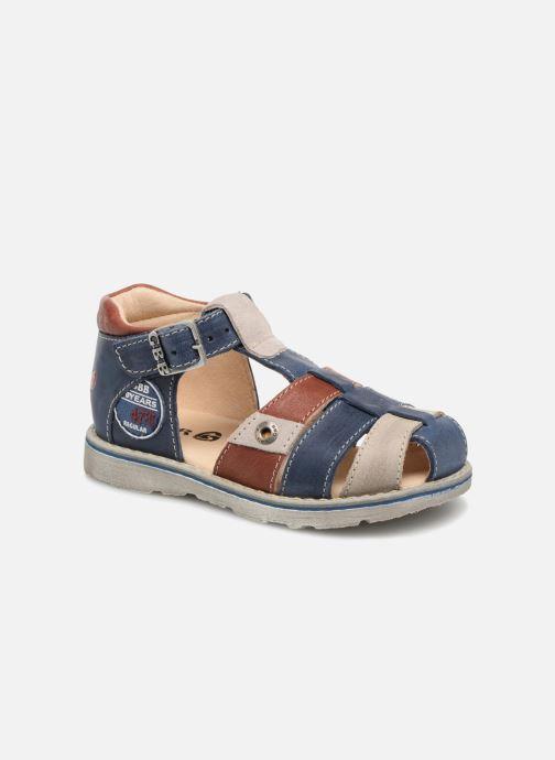 Sandales et nu-pieds GBB Sloan Bleu vue détail/paire