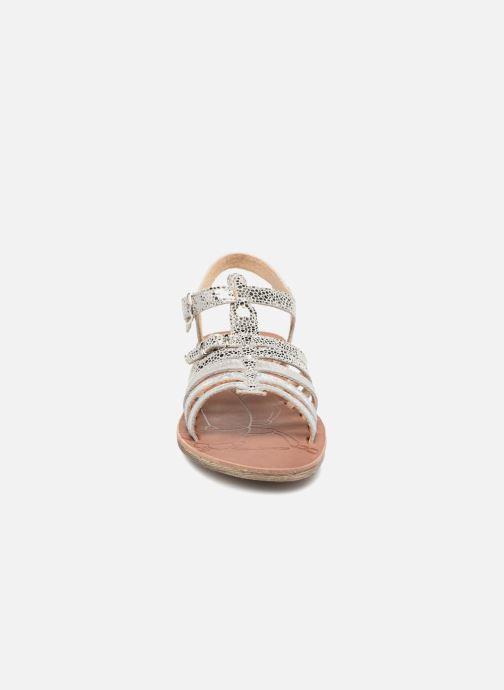 Sandales et nu-pieds GBB Bangkok Argent vue portées chaussures