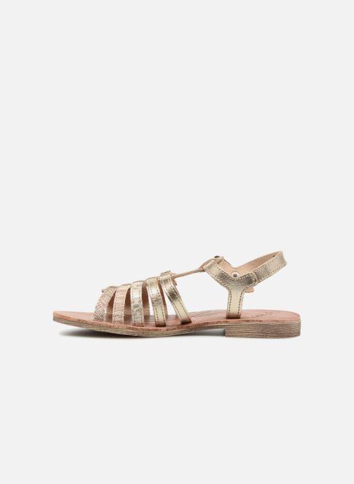 Sandales et nu-pieds GBB Bangkok Or et bronze vue face