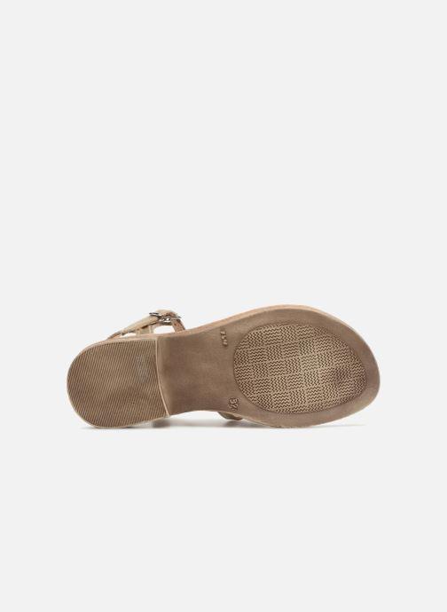 Sandales et nu-pieds GBB Bangkok Or et bronze vue haut