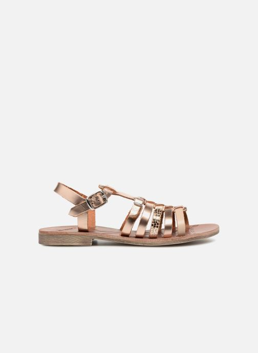 Sandales et nu-pieds GBB Bangkok Or et bronze vue derrière