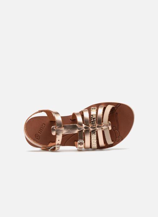 Sandales et nu-pieds GBB Bangkok Or et bronze vue gauche