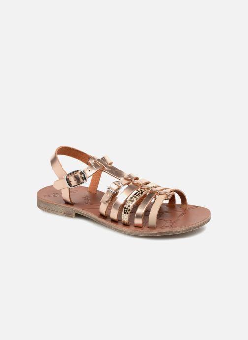 Sandales et nu-pieds GBB Bangkok Or et bronze vue détail/paire