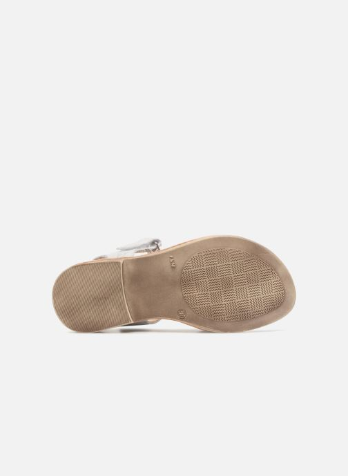 Sandales et nu-pieds GBB Enrica Blanc vue haut