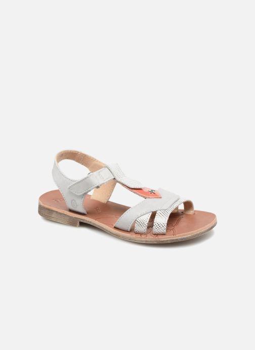 Sandales et nu-pieds GBB Enrica Blanc vue détail/paire