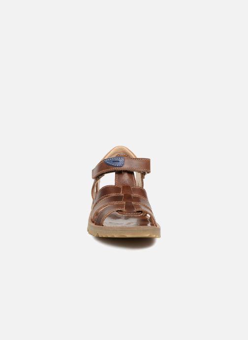 Sandales et nu-pieds GBB Patrizio Marron vue portées chaussures