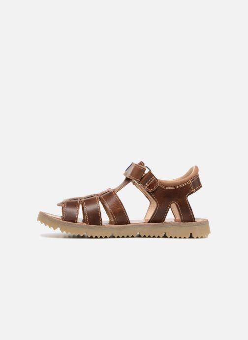 Sandales et nu-pieds GBB Patrizio Marron vue face