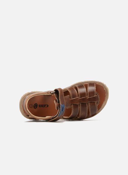 Sandales et nu-pieds GBB Patrizio Marron vue gauche