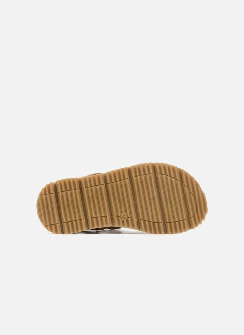 Sandales et nu-pieds GBB Patrizio Marron vue haut