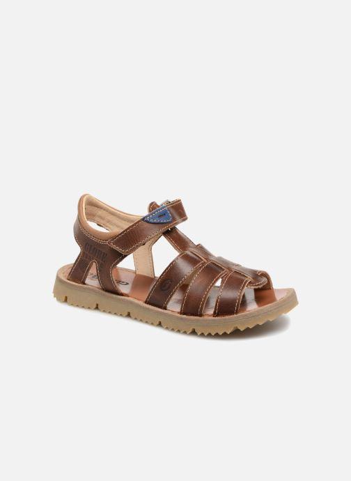 Sandales et nu-pieds GBB Patrizio Marron vue détail/paire