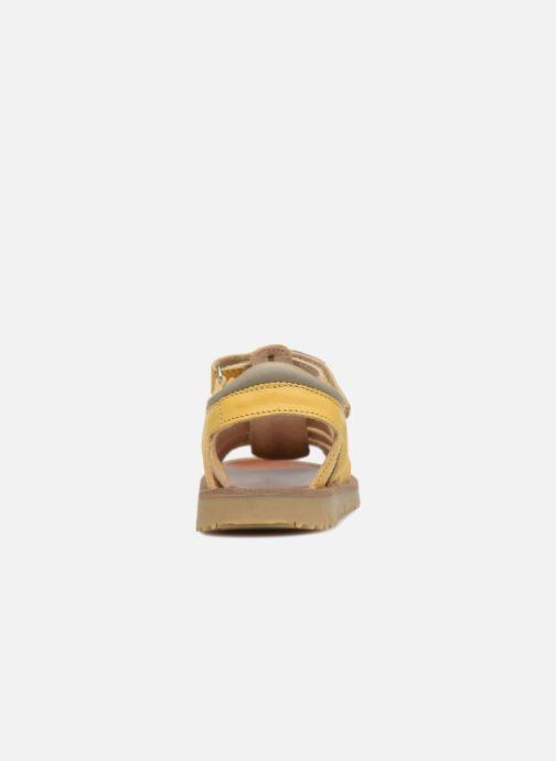 Sandales et nu-pieds GBB Patrizio Jaune vue droite