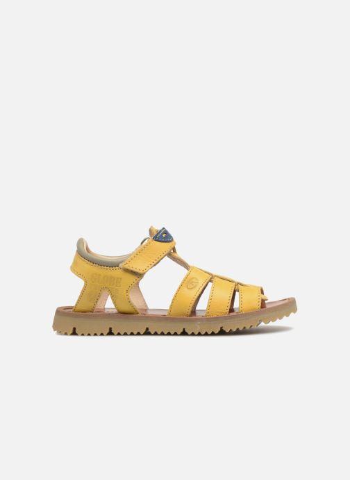 Sandales et nu-pieds GBB Patrizio Jaune vue derrière