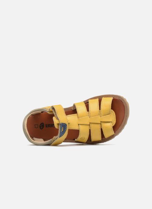 Sandales et nu-pieds GBB Patrizio Jaune vue gauche