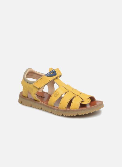 Sandales et nu-pieds GBB Patrizio Jaune vue détail/paire