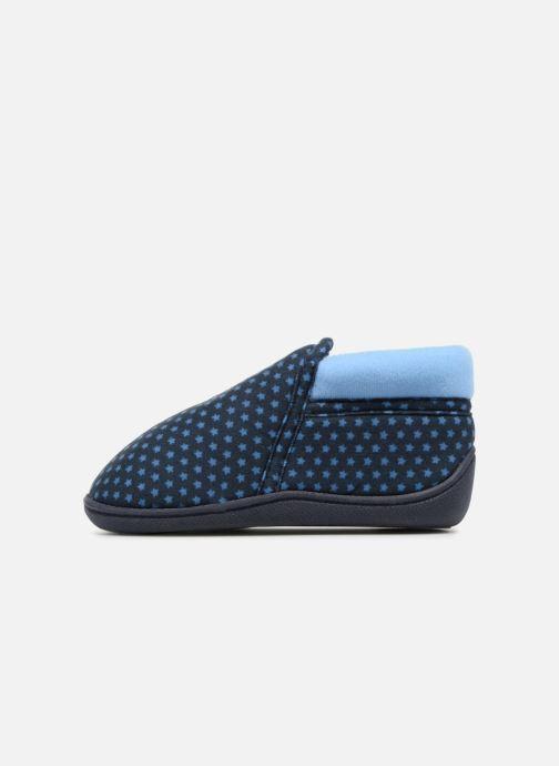 Slippers Isotoner Botillon Zip Suédine Blue front view