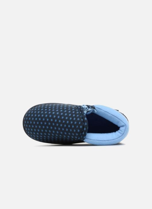 Slippers Isotoner Botillon Zip Suédine Blue view from the left