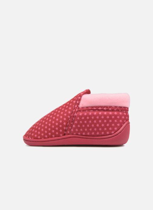 Slippers Isotoner Botillon Zip Suédine Pink front view