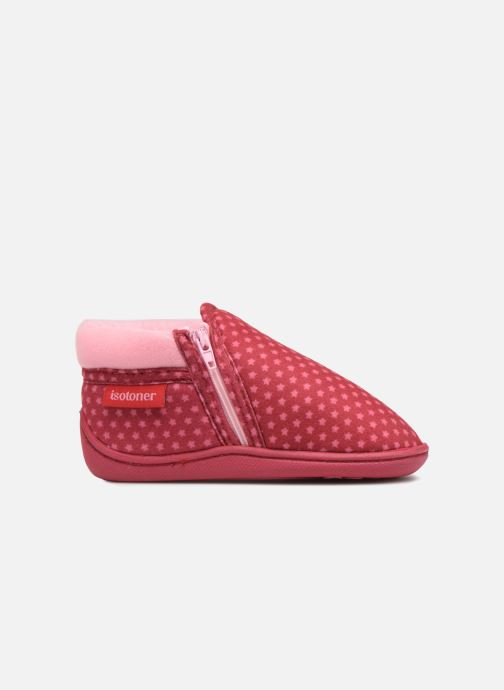 Slippers Isotoner Botillon Zip Suédine Pink back view