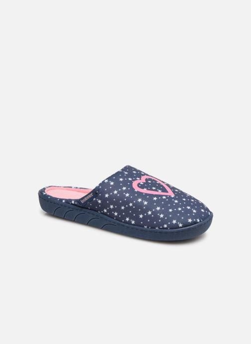 Hjemmesko Isotoner Mule Jersey Blå detaljeret billede af skoene