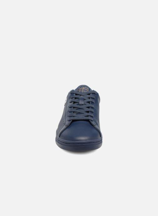 Baskets Champion Low Cut Shoe 919 LOW PATCH LEATHER Bleu vue portées chaussures