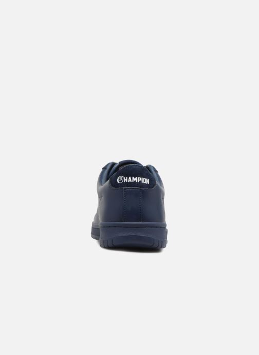 Trainers Champion Low Cut Shoe 919 LOW PATCH LEATHER Blue view from the right