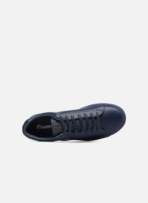 Trainers Champion Low Cut Shoe 919 LOW PATCH LEATHER Blue view from the left