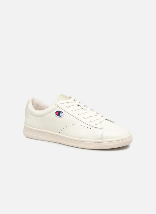 Baskets Champion Low Cut Shoe 919 LOW PATCH LEATHER Blanc vue détail/paire