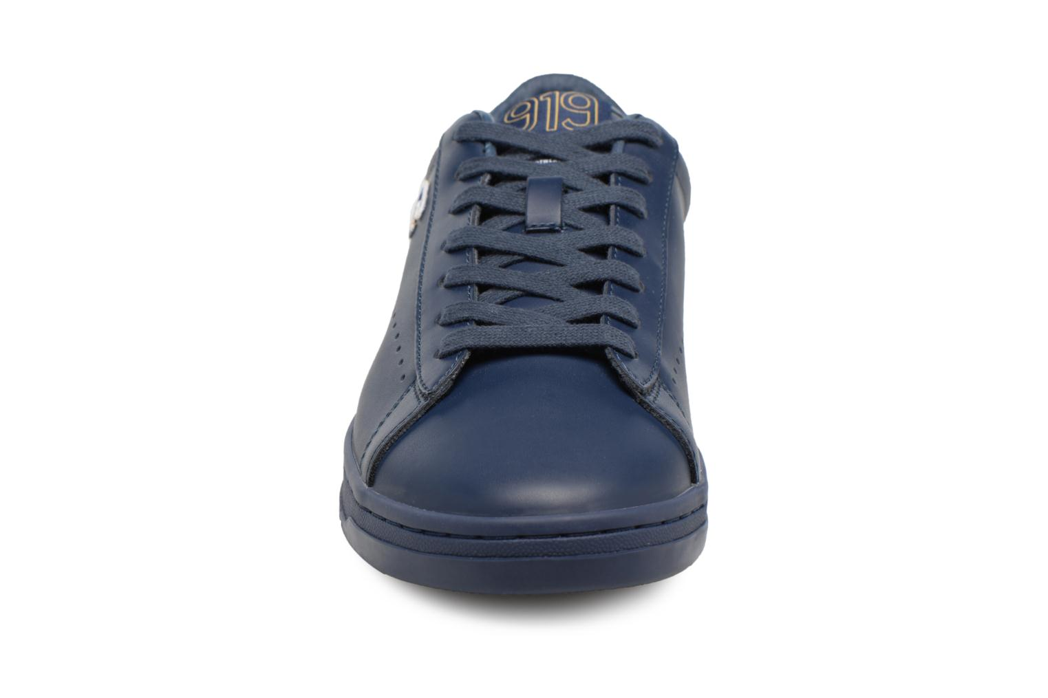 Baskets Champion Low Cut Shoe 919 LOW PATCH LEATHER Bleu vue portées chaussures