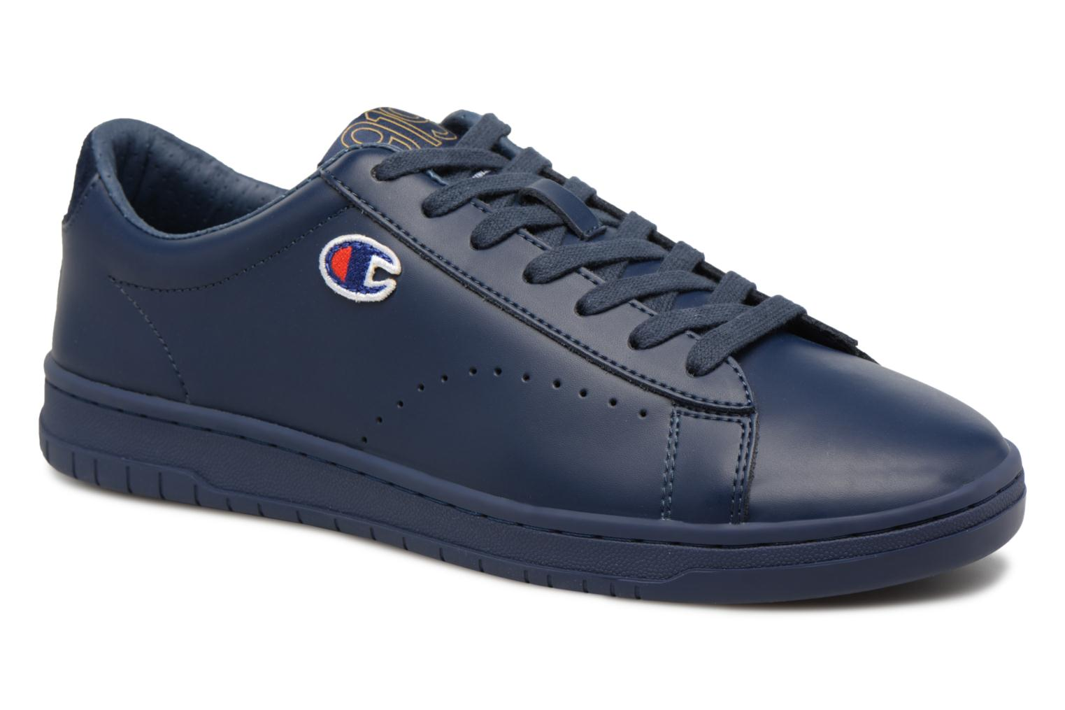 Baskets Champion Low Cut Shoe 919 LOW PATCH LEATHER Bleu vue détail/paire