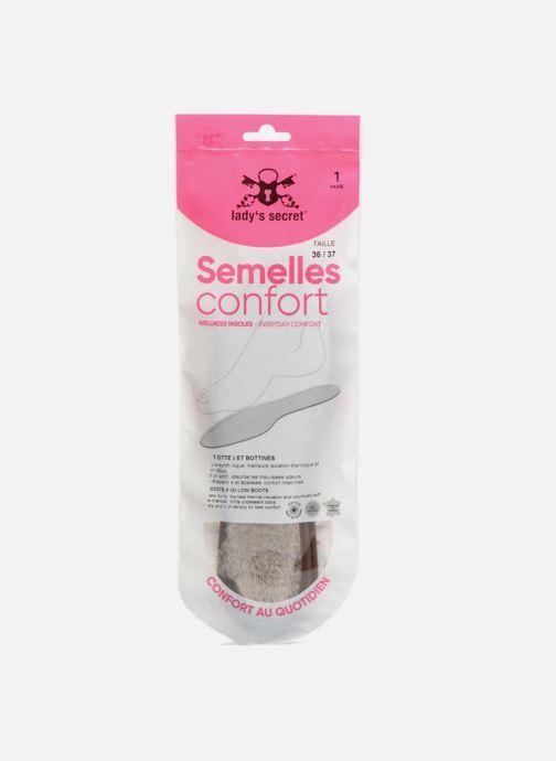 Einlegesohlen Lady's Secret Semelles Fourrure grau schuhe getragen