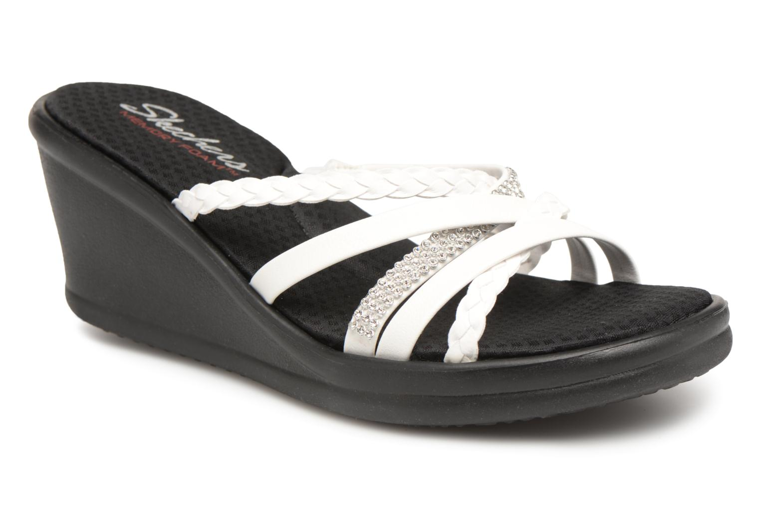 Mules & clogs Skechers Rumblers-Wild Child White detailed view/ Pair view
