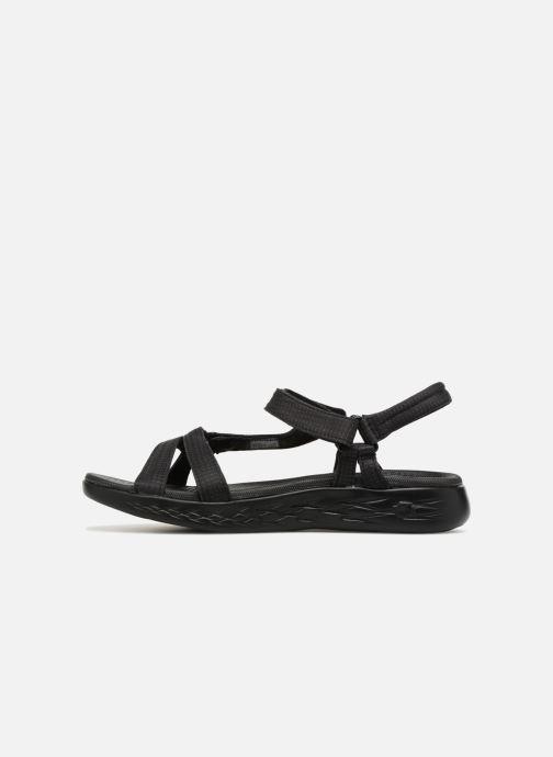 Sandalias Skechers On-The-Go 600-Brilliancy Negro vista de frente
