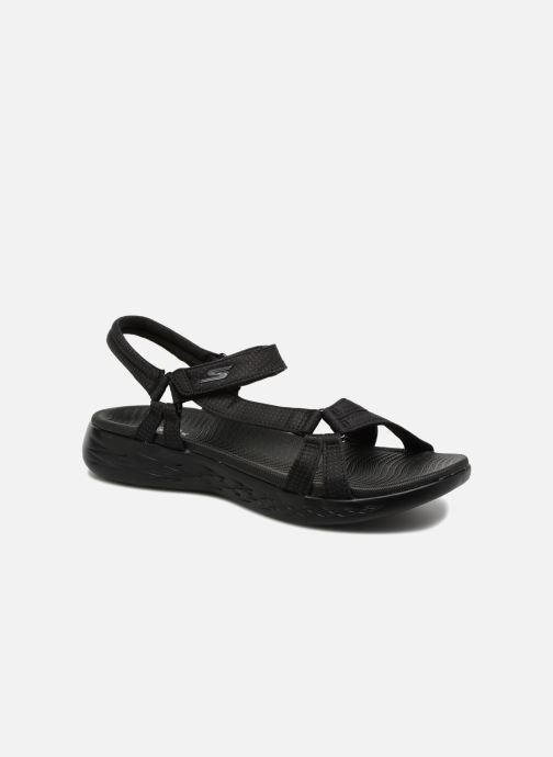 Sandalias Skechers On-The-Go 600-Brilliancy Negro vista de detalle / par