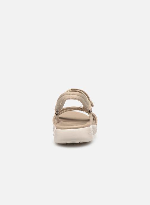 Sandalias Skechers On-The-Go 600-Brilliancy Beige vista lateral derecha