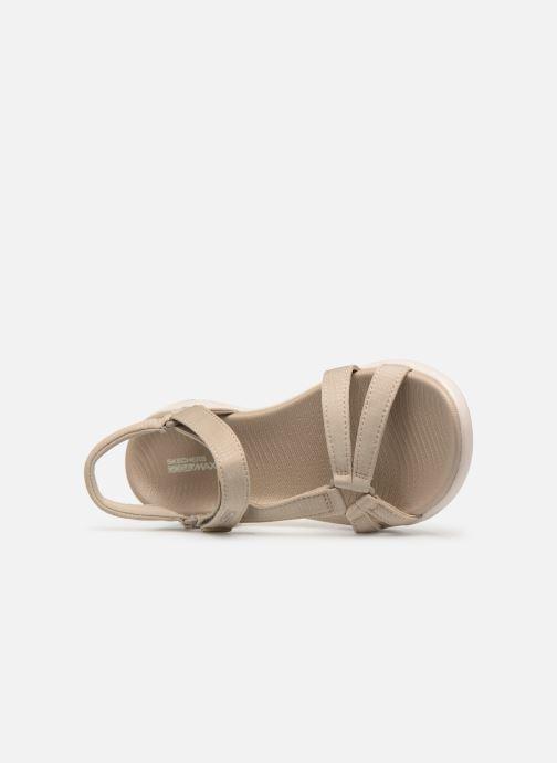 Sandalias Skechers On-The-Go 600-Brilliancy Beige vista lateral izquierda