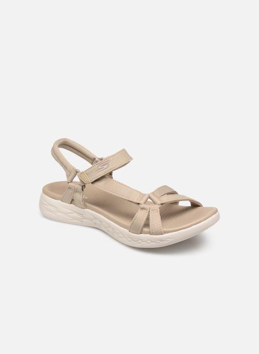 Sandaler Skechers On-The-Go 600-Brilliancy Beige detaljeret billede af skoene