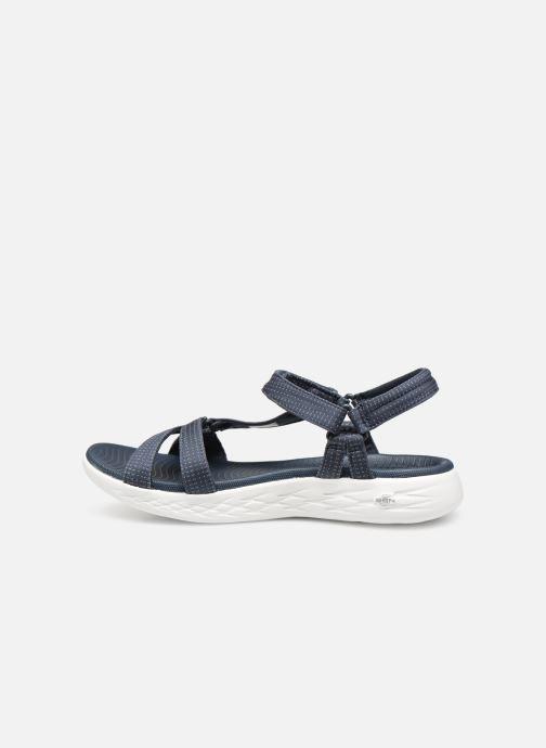 Sandalias Skechers On-The-Go 600-Brilliancy Azul vista de frente