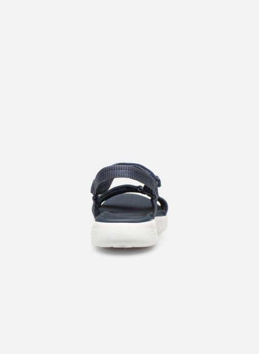 Sandalias Skechers On-The-Go 600-Brilliancy Azul vista lateral derecha