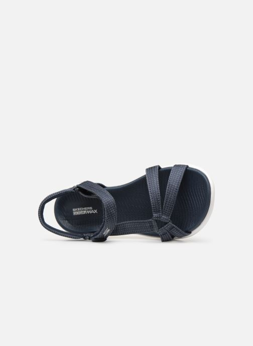 Sandalias Skechers On-The-Go 600-Brilliancy Azul vista lateral izquierda
