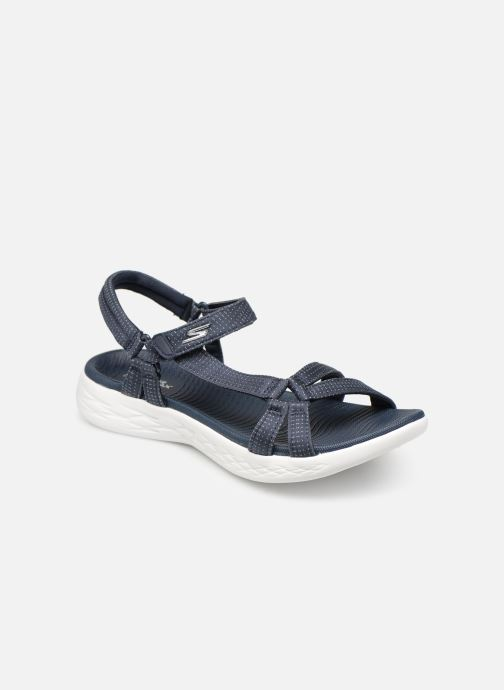 Sandalias Skechers On-The-Go 600-Brilliancy Azul vista de detalle / par