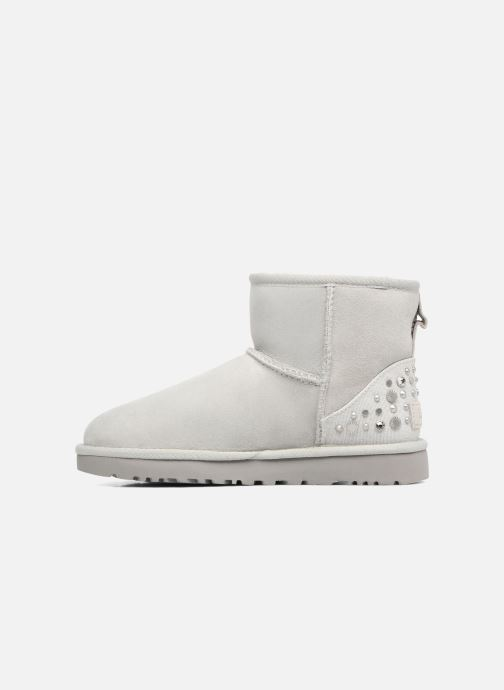 Bottines et boots UGG Mini Studded Bling Gris vue face
