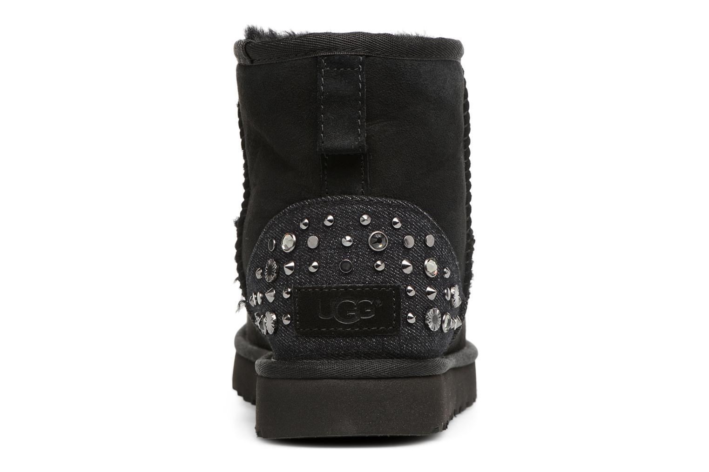 Bottines et boots UGG Mini Studded Bling Noir vue droite
